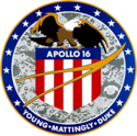 Logo van Apollo 16