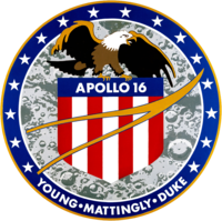 Apollo 16 logotipas