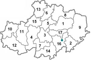 Aqmola districts numbered.PNG