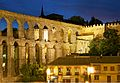 Aqueduct city wall Segovia night.jpg