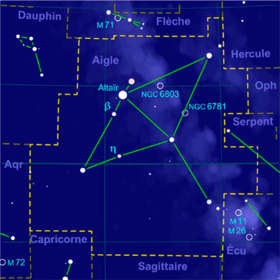 image illustrative de l'article Aigle (constellation)