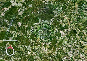 Araguainha crater - Image: Araguainha crater