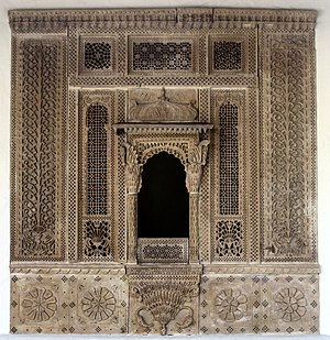 Grillwork - Image: Architectural stone Grillwork from a house in northern India, Rajput Dynasty, 17th 18th century, Honolulu Academy of Arts