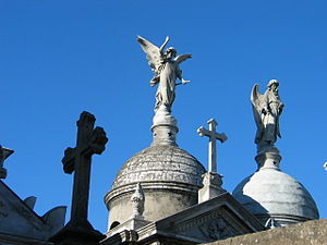 La Recoleta Cemetery - View of the domes.