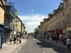 Argyle Street, Bath - View of Argyle Street, Bath looking east from Pulteney Bridge