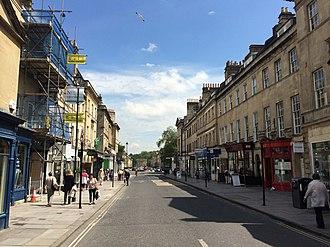 Argyle Street, Bath - View of Argyle Street, Bath looking east from Pulteney Bridge