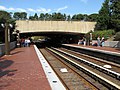 Arlington Cemetery station from outbound end of platform.jpg
