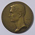 Arm. Domken Pro Patria Ultro Mortuus 1891-1916, medal by Jacques Marin (1877-1950), Belgium, 1916, Coins and Medals Department of the Royal Library of Belgium, 2Lef 49 - 23 (recto).jpg