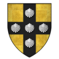 Arms of Jean III de Grailly, captal de Buch, KG.png