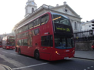 London Buses route 176 - Arriva London Alexander Dennis Enviro400 at Charing Cross in April 2014