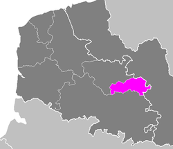 Location of Lens in Nord-Pas de Calais