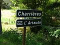 Artaude Saint-Étienne-la-Geneste Charrières D168E2 panneau.JPG