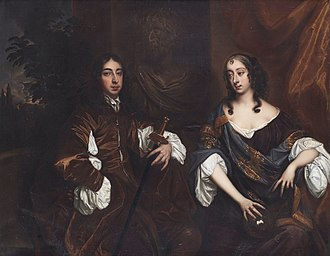 Arthur Capell, 1st Earl of Essex - Arthur Capel, 1st Earl of Essex and his wife Elizabeth, Countess of Essex, by studio of Peter Lely