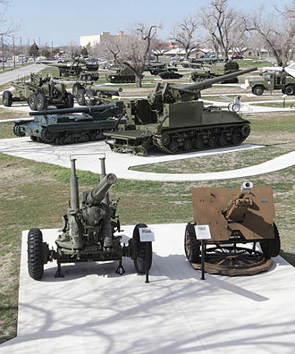 Fort Sill - Next door to the Artillery Museum is a new Artillery Park with artillery pieces from throughout the world.