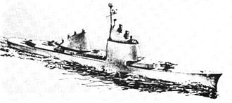 USS Long Beach (CGN-9) - Artist's concept of nuclear powered cruiser design from 1956.