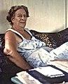 Asa Wright, her porch at Springhill home.1963, Trinidad.jpg