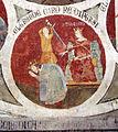 Asciano, museo di palazzo corboli, int., sala di aristotele con affreschi attr. a Cristoforo di Bindoccio e Meo di Pero, XIV sec. 10.JPG