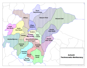 Kumasi Metropolitan Assembly - Image: Ashanti Districts