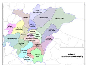 Kumasi Metropolitan Assembly - Image: Ashanti Districts