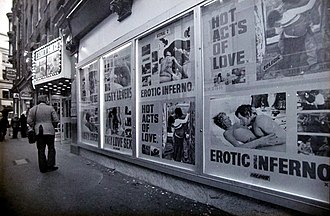 Soho in the 1970s: the Astral 1 and 2 cinema, Brewer Street Astral 1 and 2 cinema, Soho, London.jpg