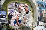 Astronauts during ISS EVA training at Johnson Space Center.jpg