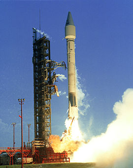 Launch of the maiden flight of the Atlas I, with the CRRES satellite