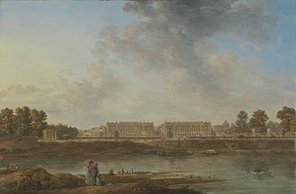 Paris in the 18th century - View of Place Louis XV (now Place de la Concorde) from the Left Bank, attributed to Alexandre-Jean Noël (about 1780)