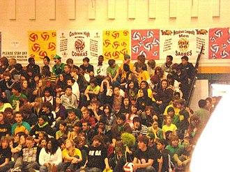 Louis St. Laurent School - Students watching 2008 S.M.A.S.H. Tournament