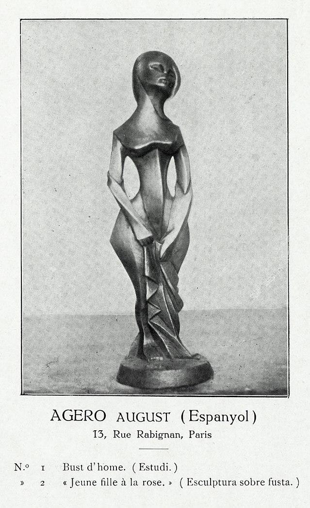 640px August Agero Jeune fille à la rose Exposició d Art Cubista Galeries Dalmau Barcelona 1912 catalogue
