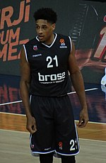 Augustine Rubit 21 Brose Bamberg EuroLeague 20180209 (cropped).jpg
