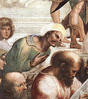 Averroes, detail of the fresco The School of Athens by Raphael