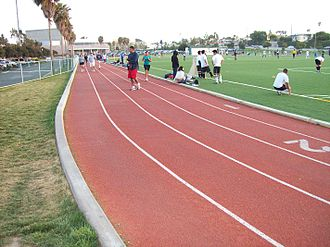 Aviation High School (California) - The track and soccer field at the former Aviation High School