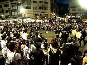 Tokushima, Tokushima - Image: Awa odori in Tokushima City