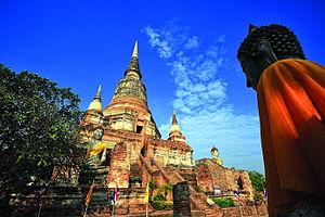 Wat Yai Chai Mongkhon - Image: Ayutthaya Wat Yai Chai Mongkhon 2