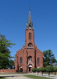 Bąków Górny Village in Łódź Voivodeship, Poland