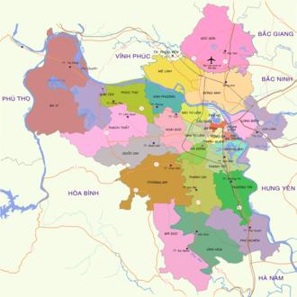 Ba Vì District - Image: Bản đồ Hà Nội
