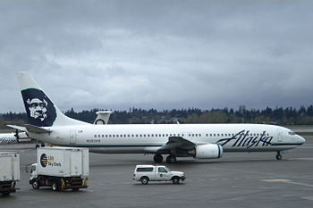 English: A photo of an Alaska Airlines Boeing ...