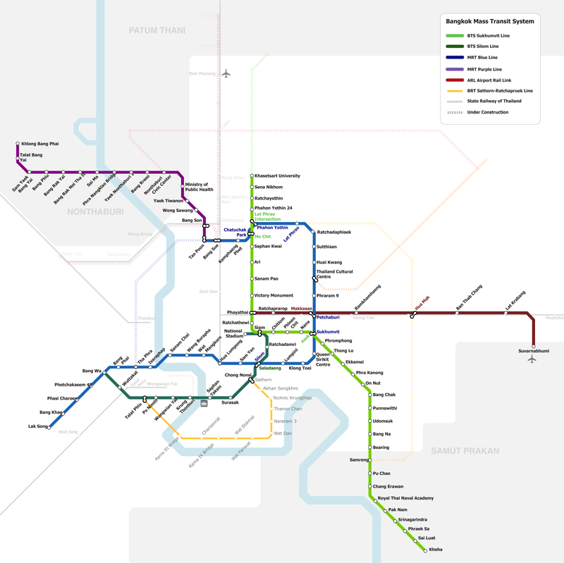 Bangkok mass transit map