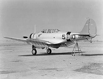 Northrop BT - BT-1 of VB-5 in 1938