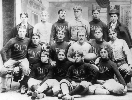 The school's first football team, which won the regional championship in 1896 BYA Football Champions 1896.png
