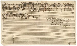 The Art of Fugue - The final page of Contrapunctus XIV