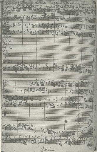 Jesus nahm zu sich die Zwölfe, BWV 22 - Image: Bach BWV 22 manuscript Kuhnau