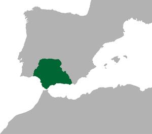 Hispania Baetica - Position of the province of Hispania Baetica in the Roman Empire.