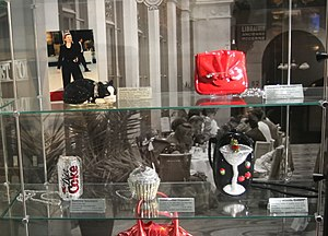 """Judith Leiber - Leiber's """"Socks"""" and """"Cupcake"""" models at the Museum of Bags and Purses in Amsterdam"""