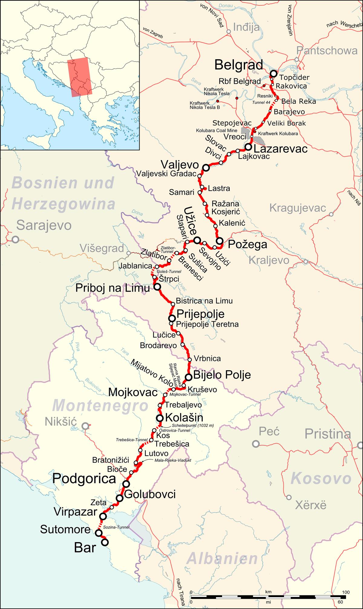 Bahnstrecke Belgradbar Wikipedia