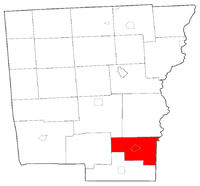 Location of Bainbridge in Chenango County