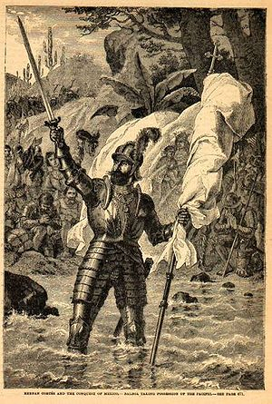Spanish colonization of the Americas - Vasco Núñez de Balboa claiming possession of the South Sea (Pacific Ocean)