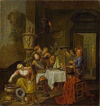 Balthasar van den Bossche - Merry company