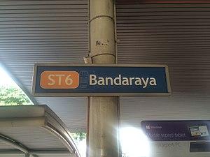 Bandaraya LRT station - Image: Bandaraya LRT Station