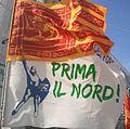 Bandiera del Veneto e della Lega Nord, Venezia, 2012.jpg
